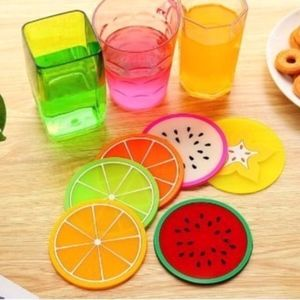 Other - 12 coasters sous-verres fruits design silicone